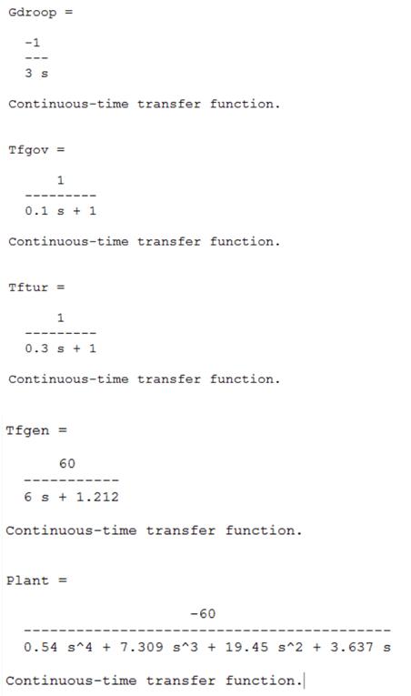 معادلات سیستم در متلب