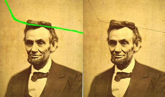 ترمیم تصویر با تبدیل کانتور بدون نمونه