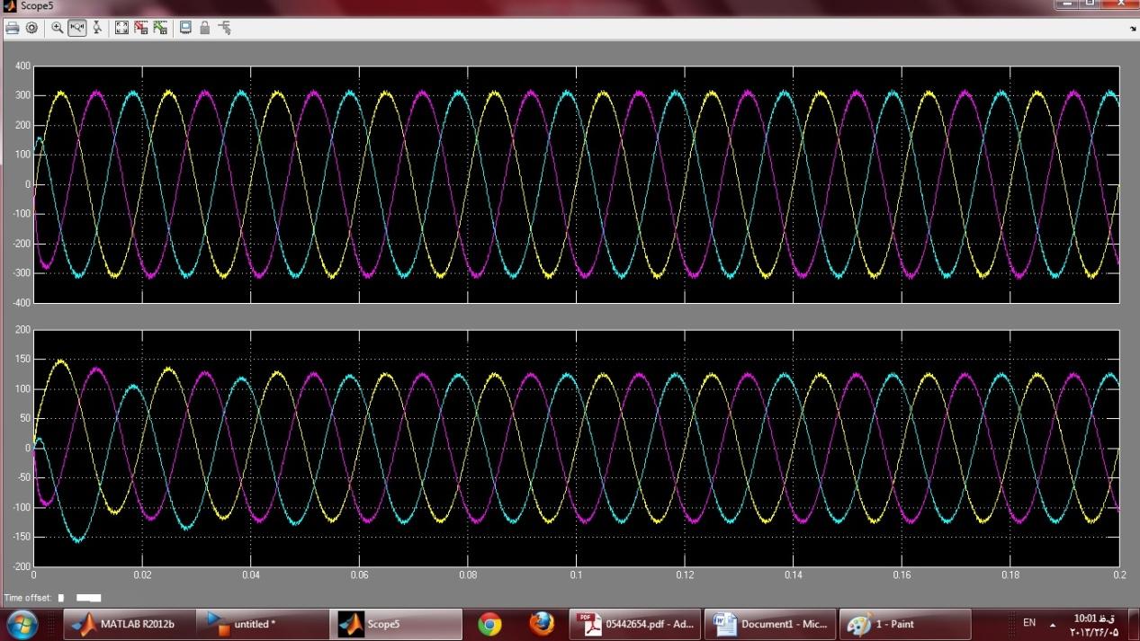 ولتاژ و جریان خروجی DG 1