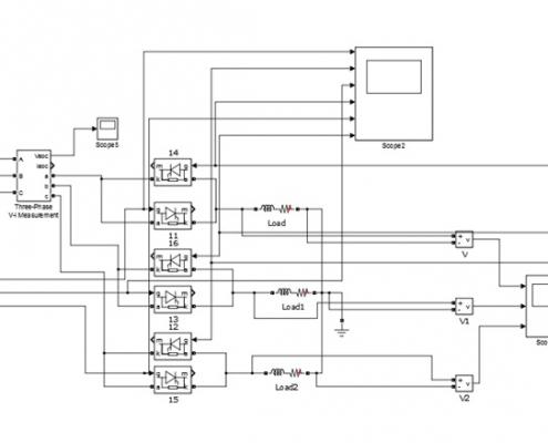 پروژه کنترل ولتاژ ac سه فاز تمام موج