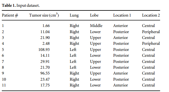 Prediction of lung tumor motion extent through artificial neural network (ANN) using tumor size and location data
