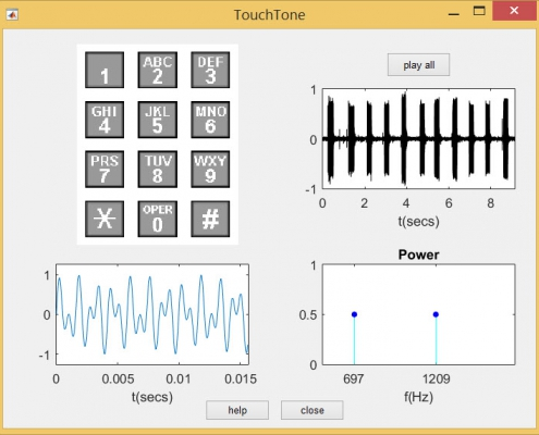 Touch-Tone Dialing در محیط GUI