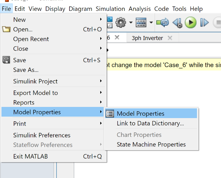 مسیر باز کردن Model Properties