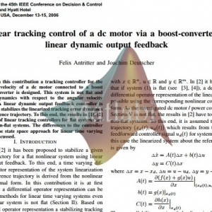 TRACKING CONTROL FOR NONLINEAR FLA T SYSTEMS BY LINEAR DYNAMIC OUTPUT FEEDBACK