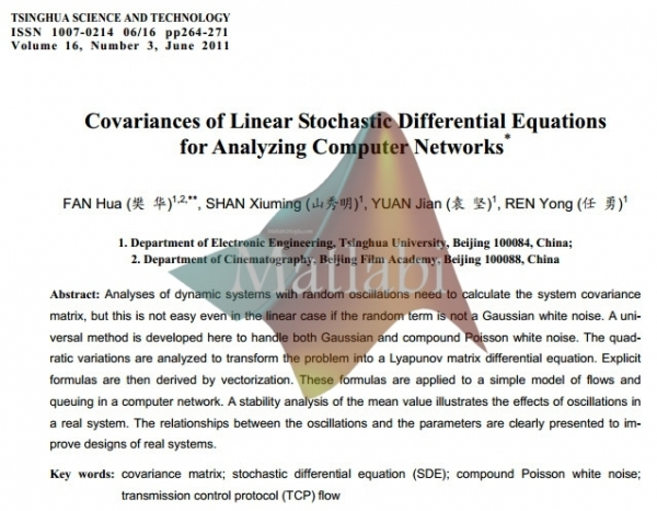 Covariances of Linear Stochastic Differential Equations for Analyzing Computer Networks