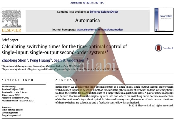 Calculating switching times for the time-optimal control of single-input, single-output second-order systems