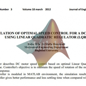 Simulation Of Optimal Speed Control For A Dc Motor Using Linear Quadratic Regulator (Lqr)