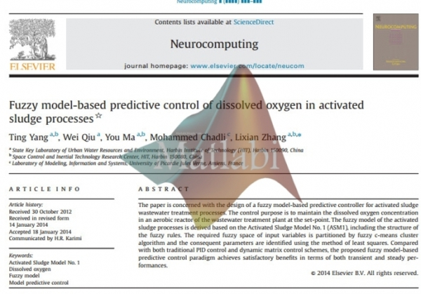 Fuzzy model-based predictive control of dissolved oxygen in activated_sludg processes