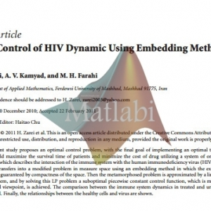 Optimal Control of HIV Dynamic Using Embedding Method