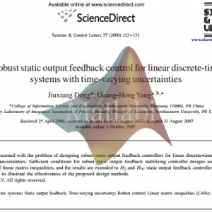 Robust static output feedback control for linear discrete-time systems with time-varying uncertainties