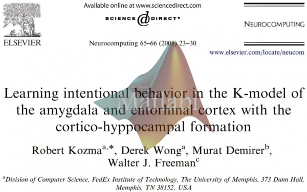Learning intentional behavior in the K-model of the amygdala and entorhinal cortex with the cortico-hyppo campal formation
