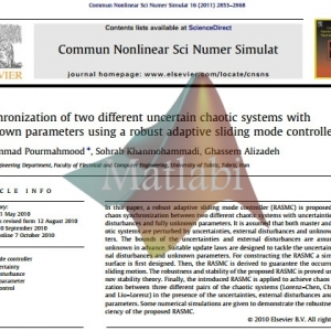 Synchronization of two different uncertain chaotic systems with unknown parameters using a robust adaptive sliding mode controller