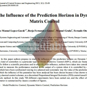 On the Influence of the Prediction Horizon in Dynamic Matrix Control