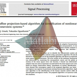 An affine projection-based algorithm for identification of nonlinear Hammerste in system