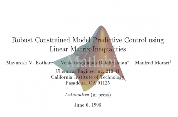Robust Constrained Model Predictive Control using Linear Matrix Inequalities