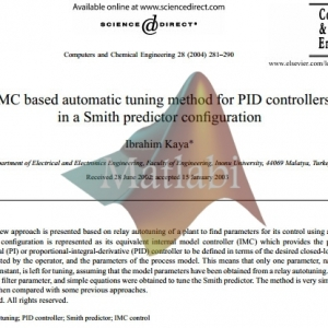 IMC based automatic tuning method for PID controllers in a Smith predictor configuration