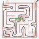 مسیریابی به روش دنبال کننده دیوار با دست راست ، مثل یه شخص نابینایی که دست راستش رو به دیوار میگیره و حرکت میکند تا به انتها برسه