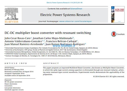 DC-DC multiplier boost converter with resonant switching