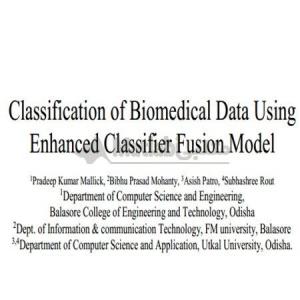 Classification of Biomedical Data Using Enhanced Classifier Fusion Model
