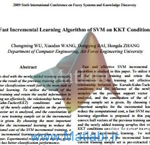 Fast Incremental Learning Algorithm of SVM on KKT Conditions