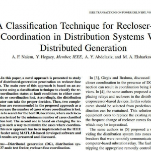 A Classification Technique for Recloser-Fuse Coordination in Distribution Systems With Distributed Generation