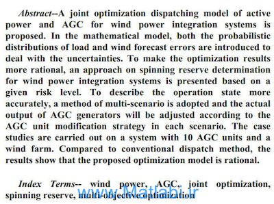 On Spinning Reserve Determination and Power Generation Dispatch Optimization for Wind Power Integration Systems