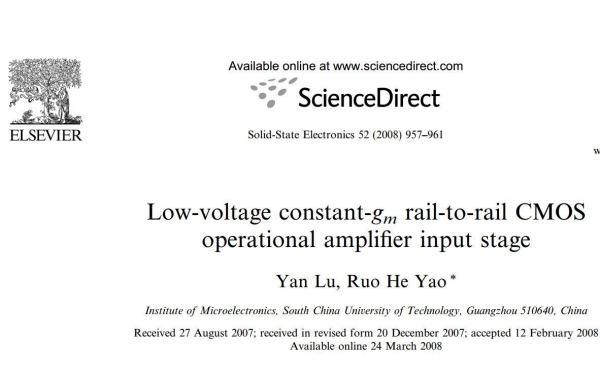 Low-voltage constant-gm rail-to-rail CMOS operational amplifier input stage