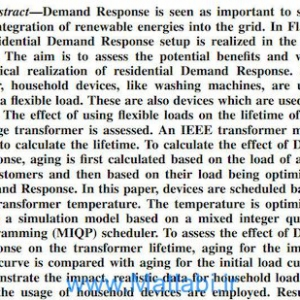 Effect of Demand Response on Transformer Lifetime Expectation