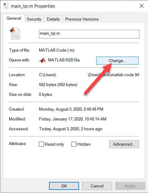 جزییات فایل متلب
