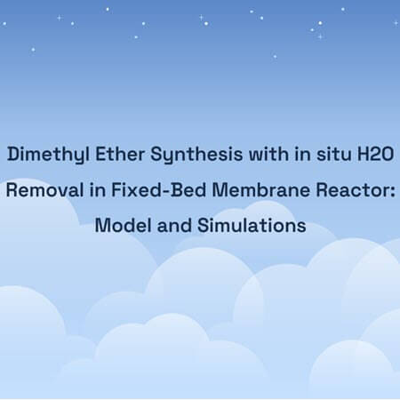 Dimethyl Ether Synthesis with in situ H2O Removal in Fixed-Bed Membrane Reactor: Model and Simulations