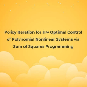 Policy Iteration for H∞ Optimal Control of Polynomial Nonlinear Systems via Sum of Squares Programming